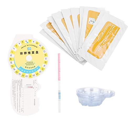 10st Ovulatie Teststrip, Snelle zwangerschapstest Vroege zwangerschap Volwassen vrouwtje Thuis Urine Testpapier Zwanger Snelle detectie Tool