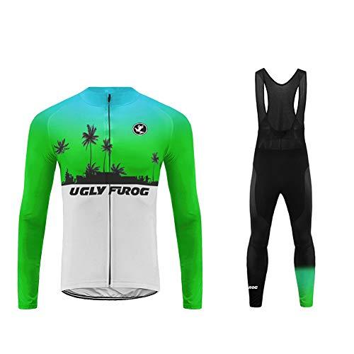 UGLY FROG 2020-2021 MTB Nuevo De Invierno Mantener Caliente Hombre Manga Larga Maillot Ciclismo +B