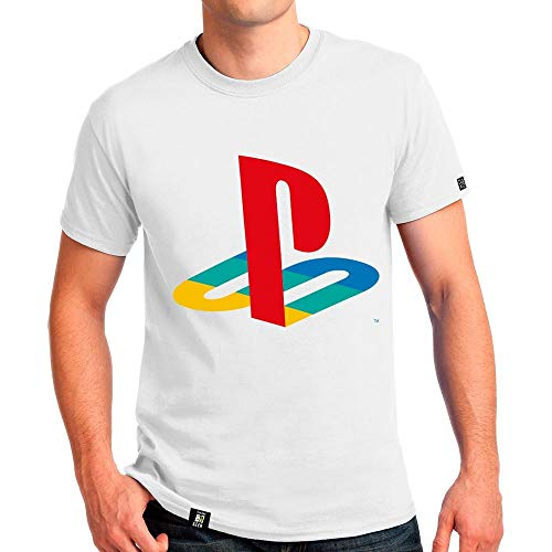 Camiseta Playstation Classic,Banana Geek,Masculino,Branco,G