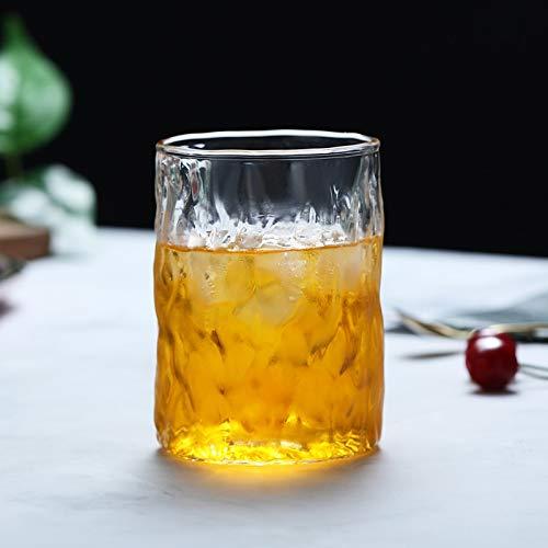 Cosmouk 400 ml de vidrio puede ser de jugo transparente taza de cerveza café café taza de whisky capuchino jugo de leche o bebida fría (Color : A)