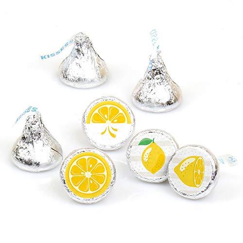 So Fresh - Lemon - Citrus Lemonade Party Round Candy Sticker Favors - Labels Fit Hershey's Kisses (1 Sheet of 108)