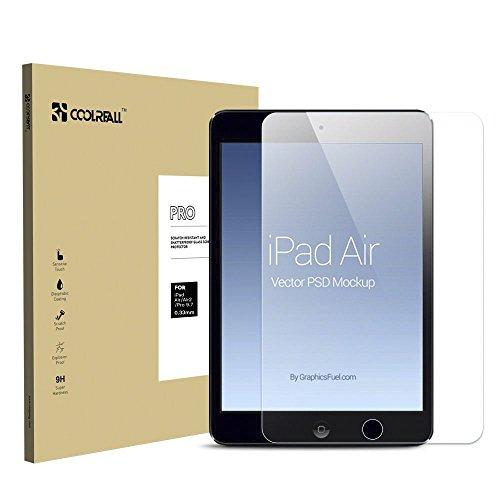 『Coolreall iPad Air/Air2/Pro9.7インチ用 液晶保護 強化ガラスフィルム 透明クリア【日本産素材 ゴリラガラス使用】 …』のトップ画像