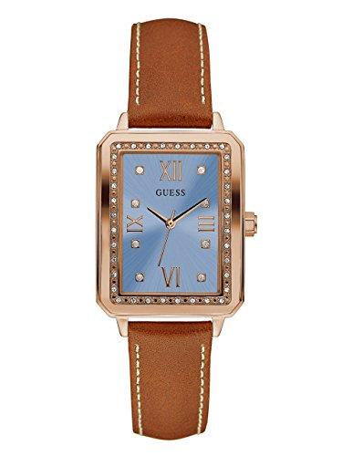 Guess Reloj Análogo clásico para Mujer de Cuarzo con Correa en Cuero W0841L2