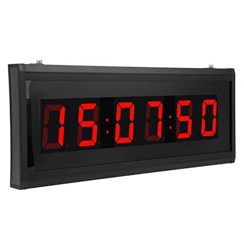 Gugxiom LED-Uhr, Leistung LED-Anzeige Beeindruckendes Design Digitale elektrische Uhr Uhr für Wohnzimmer für Schreibtisch(Übersetzen)