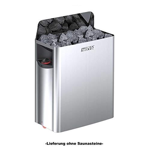 HARVIA THE WALL Elektrische Saunaofen SW80 8.0 kW mit integrierte Steuerung; 3-Phasig; Edelstahl