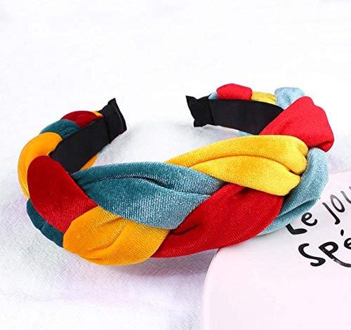sufengshop Hoofdband met klittenband voor dames, kleurrijk patchwork, meisjes, haarsieraad, modieus, lunette