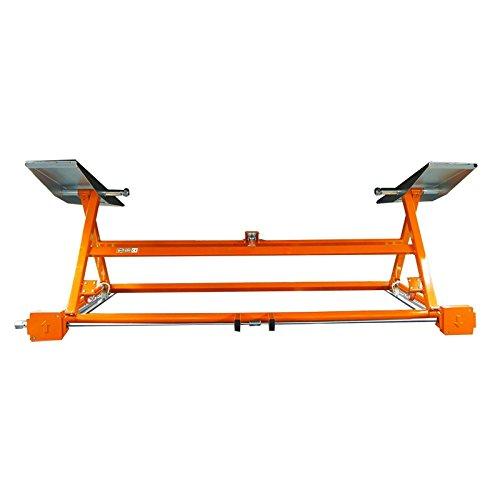 Ponte sollevatore meccanico e portatile, di colore arancione