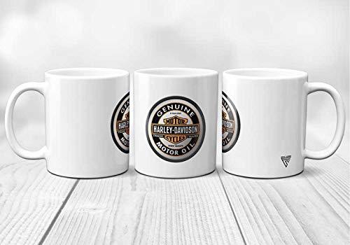 Tazza in ceramica Harley Davidson Aigle, originale e resistente, stampata in Francia