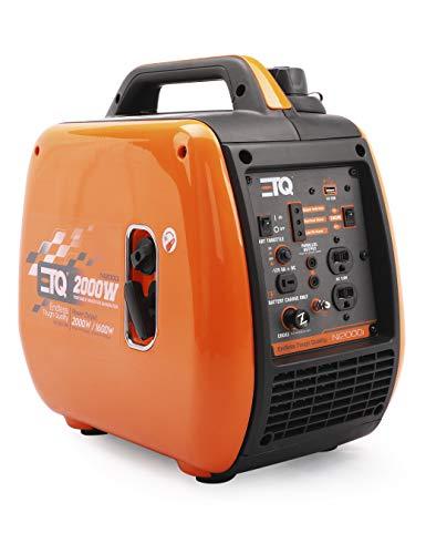 Etq 2000 Watt Gas Powered Inverter Generator CARB Compliant with Spark arrestor, Pure Sine Wave