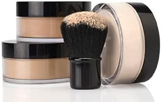 4pc FULL SIZE KIT (WARM Neutral Shade-Most Popular) W/KABUKI Mineral Makeup Set Bare Skin Sheer Illuminating Powder Foundation Cover