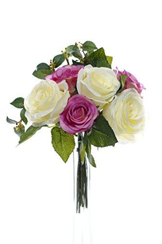 Country Baskets CB Imports Ensemble de Roses Rose/crème