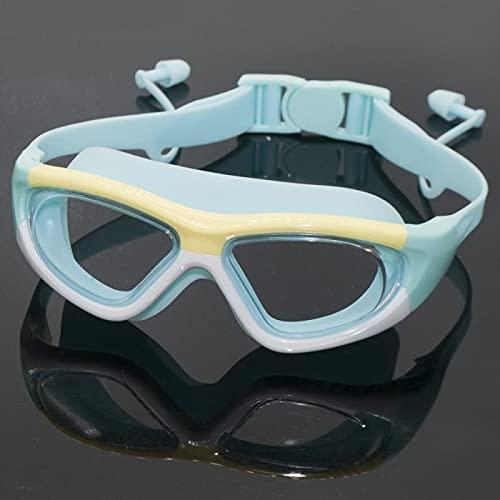 Lunettes de plongée Lunettes de bain Lunettes de bain Lunettes de baignade professionnelle Lunettes de bain anti-brouillard Verres de bain Piscine UV Piscine Bouchons d'oreille enfants nager lunettes