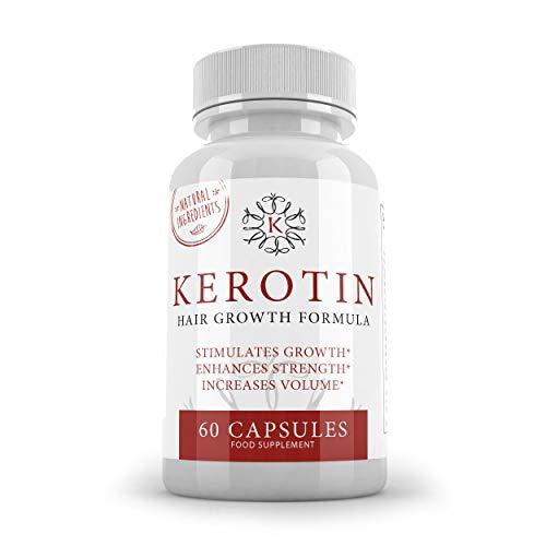 K Kerotin Haargroei Vitaminen voor Vrouwen & Mannen - 60 Capsules - Gemaakt van natuurlijke ingrediënten - Stimuleert de groei en verbetert de sterkte - SUPPLEMENT PARADISE