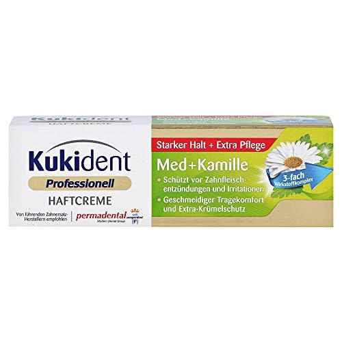 Kukident Haftcreme Med + Kamille á 40g Starker Halt + Extra Pflege
