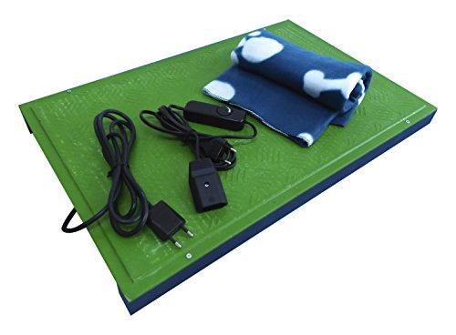 Placas Verdes Manta eléctrica de calefacción para Perros, Gatos y Mascotas. Calefacción...