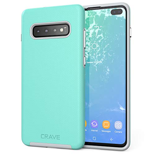 Crave Dual Guard for Galaxy S10+ Case, Shockproof Protection Dual Layer Case for Samsung Galaxy S10+, S10 Plus (6.4 inch) - Mint