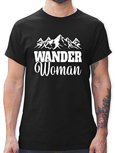 Sonstige Sportarten - Wander Woman - weiß - S - Schwarz - Shirt wandern - L190 - Tshirt Herren und Männer T-Shirts