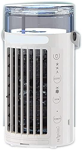 Oficina en casa Refrigerador de aire móvil portátil personal, 3 en 1 mini acondicionador de aire súper tranquilo evaporativo, humidificador, 3 velocidad y diseño de pulverización, para el hogar / ofic