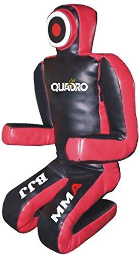 QUADRO-MMA 格闘技 グラップリング ダミー ブラック/レッド 柔術 パンチングバッグ 70インチ