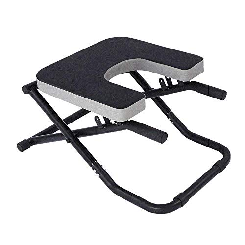 CURVEASSIST Pilates Kopfstand Bank Inverted Chair Assisted Home Fitness Inverted Hocker Inverted Machine Inverted Machine Inversionmachine,Black-OneSize