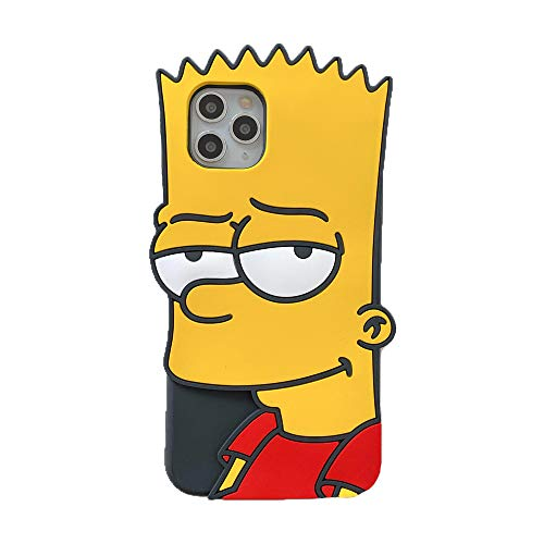 MME Character Case for iPhone 11 Case 3D Cartoon No-Face Man Black Widow Mario Simpson Whiskers Soft Silicone Rubber Case for Women Girls Teens (Simpson, 11)