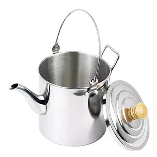 YPJKHL Picnic Utensilios de Cocina Hervidor de Agua de Acero Inoxidable al Aire Libre Tetera Cafetera Camping Hervidor - 2l / 3l-2L