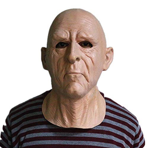 HENGYUTOYMASK Latex oude man masker partij Cosplay kostuum Cross-dresser volwassen grootte