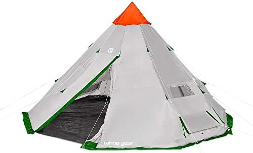 Tahoe Gear Bighorn XL 18 x 18 Feet 12 Person Waterproof Teepee Cone Shape Camping Tent product image