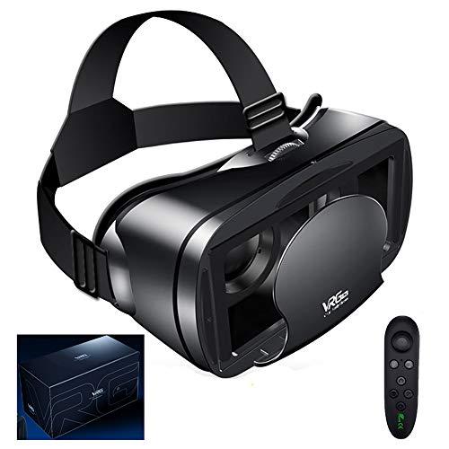 VR Headset 3D VR Brille VR glasses, Reality Und Virtual Reality Handy Headset, 3D Virtual Reality Brille, Augenschutz HD Virtual Reality mit Bluetooth Fernbedienung für 4.0-6.0 Zoll Smartphone