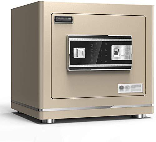 Pistol Veilig, elektronische Brandkast van het Huis met Medium Office Alarm Fingerprint Safe Anti-Theft Storage Box, vingerafdruk + Key + wachtwoord, 38 * 30 * 35 cm,Gray