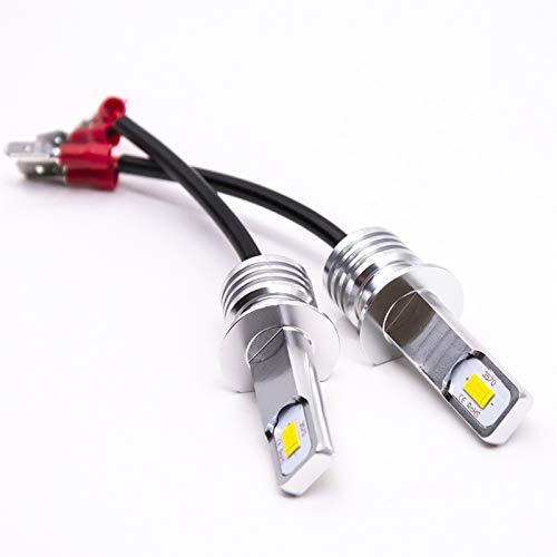 GCS Gcsheng 2 unids Super Bright H1 LED Bombillas LED de conducción Luces de Funcionamiento Fog Light Auto Lamp LED 6000K 3000K White High Power 3570 Fit para CSP (Emitting Color : 6000K White)
