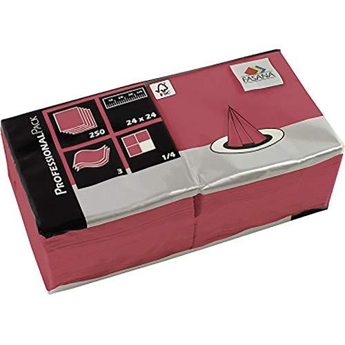 NORDWEST handel AG FASANA servet 217675 24x24cm 3-laags bordeaux 250 st./pak.