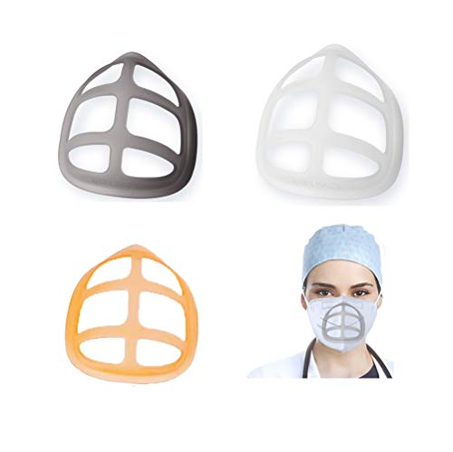 3D Bracket Cool Silicone Mask Inner Support Lipstick Protection for Adults for Kids (BWOrange)