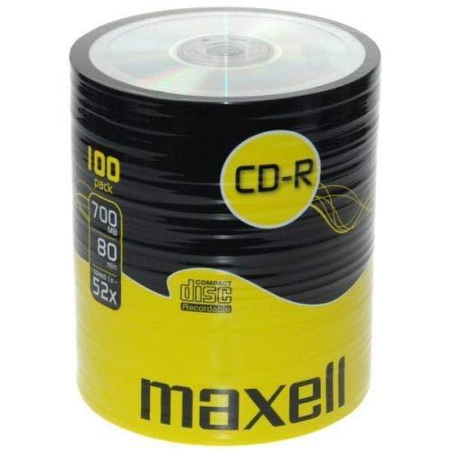 Maxell - 100 dischi CD-R vuoti (52 x 80 min 700 MB), registrabili