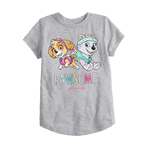 Jumping Beans Little Girls' 4-12 Pawsome Friends TEE 12 Grey