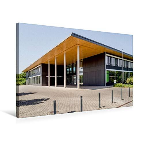 Calvendo Premium Textil-Leinwand 75 cm x 50 cm Quer, Heidelberg - Gregor-Mendel-Realschule, Kirchheim | Wandbild, Bild auf Keilrahmen, Fertigbild auf Echter 2017 - Moderne Architektur Orte Orte