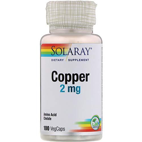 Solaray, (3 Pack) Copper, 2 mg, 100 VegCaps