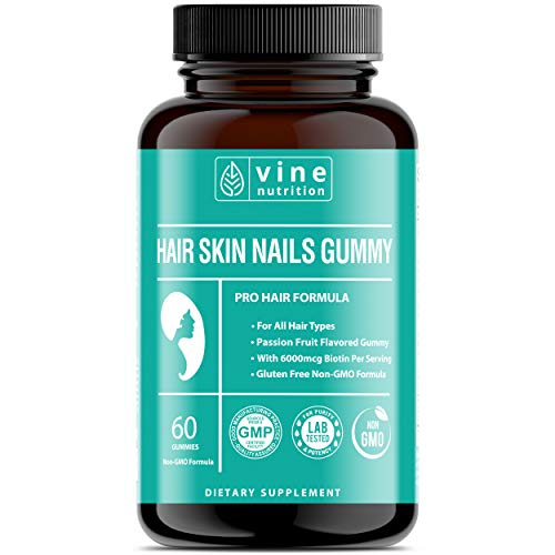 Hairtonica Hair Skin and Nails Gummy - Passion Fruit Gummy Hair Growth Vitamins. Hair Vitamins for Faster Hair Growth. Hair Loss Supplements for Women. Support Hair Loss & Thinning, Hair Growth Pills