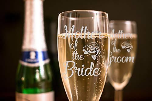 "2er-Set ""Mother of the Bride and Mother of the Groom"", Hochzeits-Gläser, Champagnerflöten"