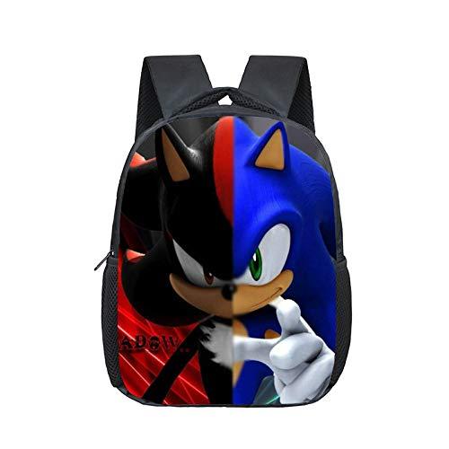 XINBANG sónico Erizo Mochila 12 Pulgadas Mario Bros Sonic Boom Hedgehogs Kindergarten Mochilas Escolares Mochilas para Niños Bolsa para Bebés Y Niños Mochila para Niños