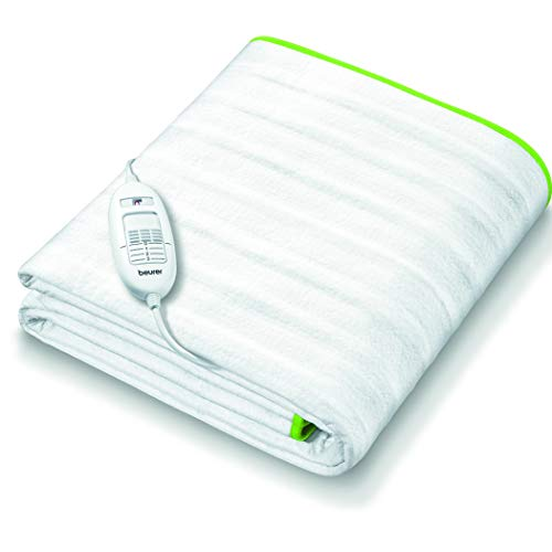 Beurer TS15 Ecologic+ heated underblanket | Ideal double electric blanket with elastic straps to fit it to your mattress | Easy-to-use | Machine washable | Soft and breathable | Size 152x122cm