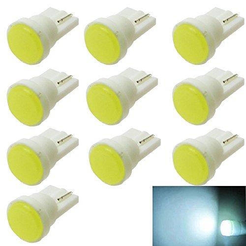 PolarLander 10pcs Intérieur de Voiture en céramique LED T10 Porte de cale Instrument Lampe d'éclairage latérale Lumière de Voiture Blanc