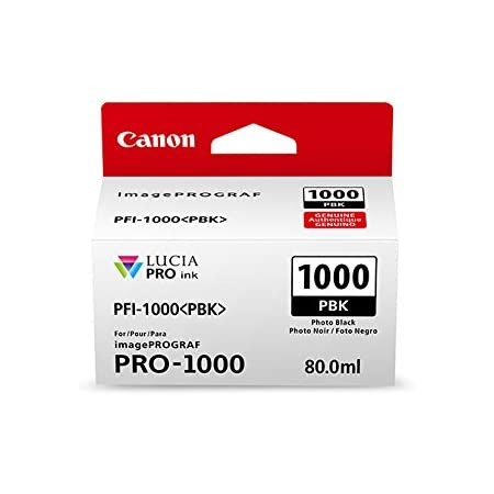 Amazon Com Canon 0546c002 Canonink Lucia Pro Pfi 1000 Photo Black Individual Ink Tank Office Products