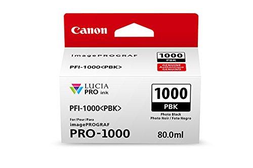 Canon 0546C002 CanonInk Lucia PRO PFI-1000 Photo Black Individual Ink Tank