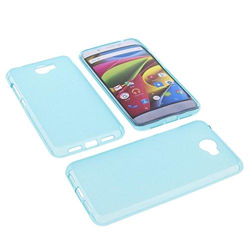 foto-kontor Tasche für Archos 50 Cobalt Gummi TPU Schutz Hülle Handytasche blau