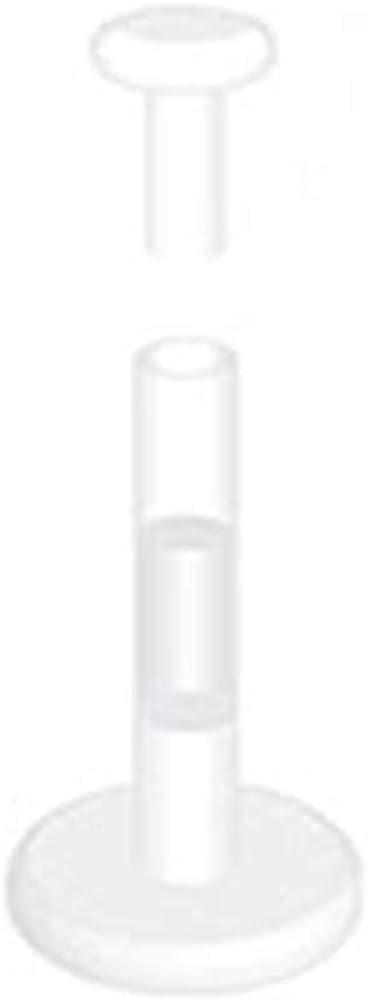 16g No-ceum Bioflex Labret Retainer with Push in Top Body Jewelry Piercing 16 Gauge 5/16