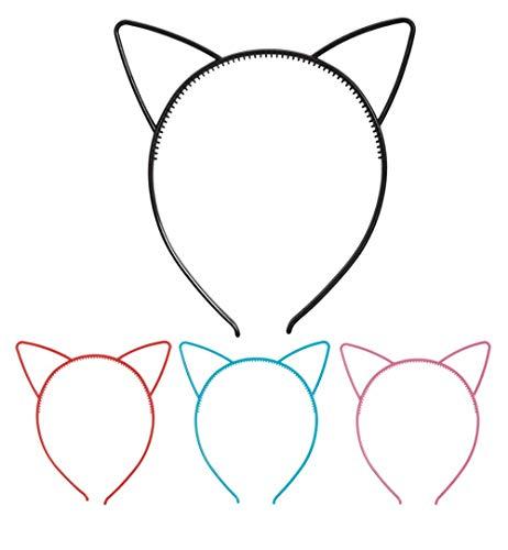 KarnevalsTeufel Haarreif Katzenohren Haarschmuck Accessoire