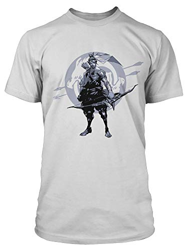 JINX Overwatch Hanzo Redemption Through Honor - Camiseta para hombre -  Blanco -  X-Large