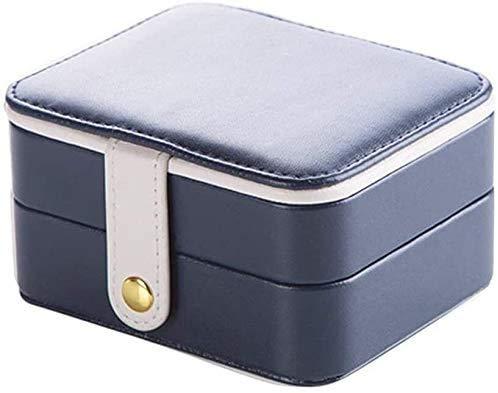 Caja de joyería damas bolso joyería caja pendientes caja de almacenamiento hembra joyería caja de almacenamiento viaje joyería caja de almacenamiento decoración,Blue