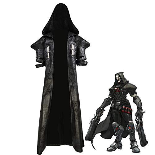 COSTHEME OW Reaper bata/chaleco/pantalones, licencia oficial, disfraz de cosplay de lujo Gabriel Reyes Juego Anime Trajes